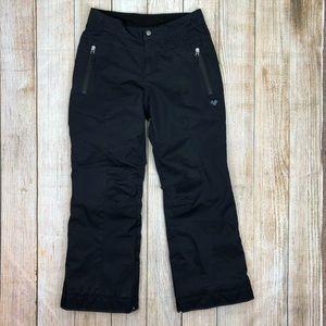 OBERMEYER Black Teen Snow Ski Pants